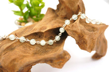 Load image into Gallery viewer, Prehnite - Silver Bracelet