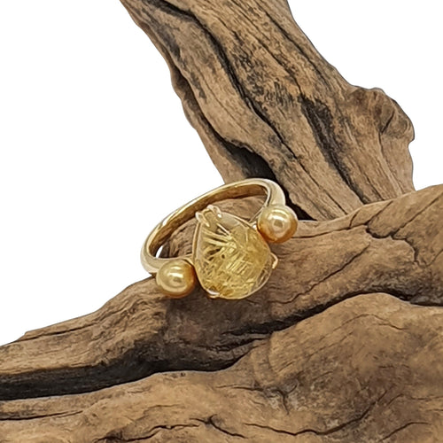 Golden Rutil Ring