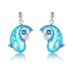 Zen Koi Earrings | Lake-blue London Topaz