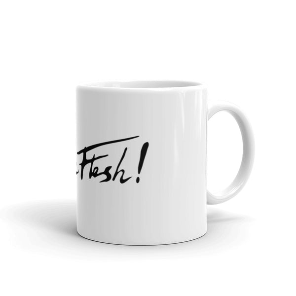 In The Flesh? - Black Logo Mug