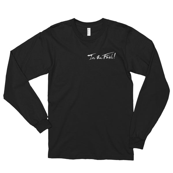 In The Flesh? - White Logo Men's Long Sleeve T-Shirt