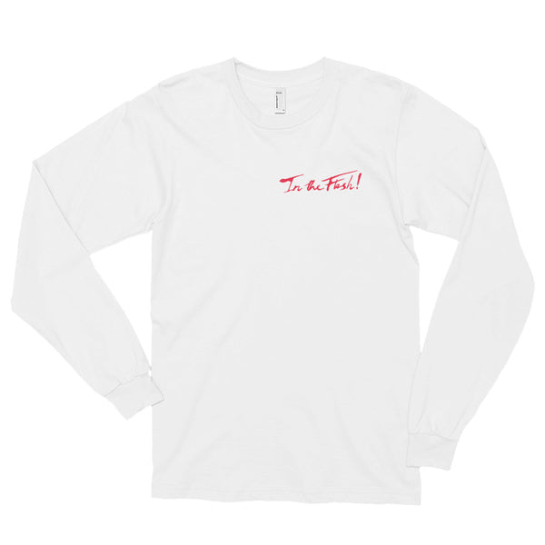 In The Flesh? - Red Logo Men's Long Sleeve T-Shirt