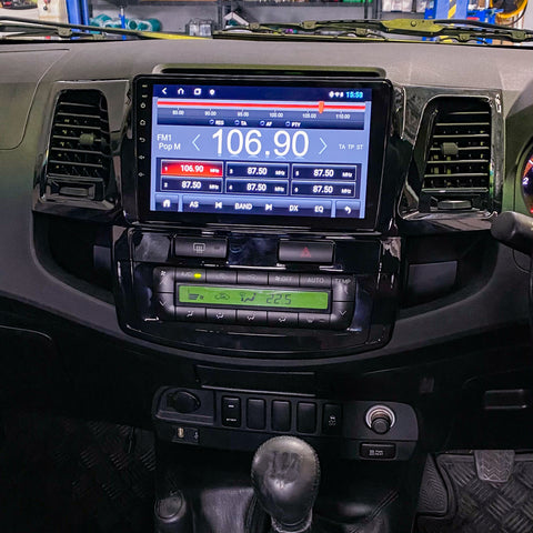 10inch Head Unit to suit HILUX N70 2005+ - Digital Dials