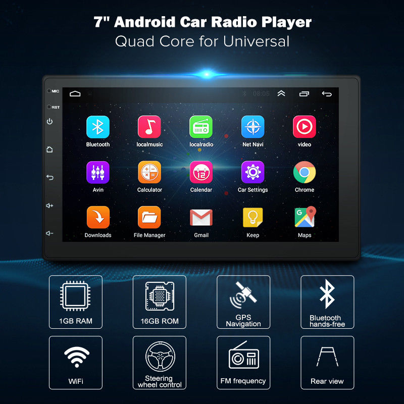 7inch 2DIN Universal Multimedia Player