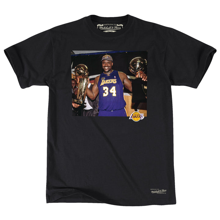 OFF COURT TEE LOS ANGELES SHAQUILLE O'NEAL  (ロサンゼルスレイカーズ シャキールオニール Photo Tシャツ)