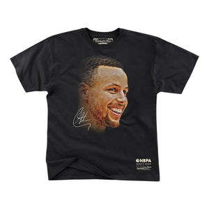 STEPHEN CURRY (ステフィン カリー) REAL BIG FACE TEE GOLDEN STATE WARRIORS (ゴールデンステートウォーリアーズ リアルビックフェイスTシャツ)
