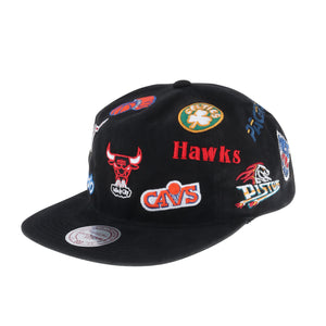 MITCHELL & NESS / NBA (ミッチェルアンドネス/エヌビーエー) ALL-OVER DEADSTOCK EAST SNAPBACK (ALL OVER イースタンカンファレンス スナップバック)