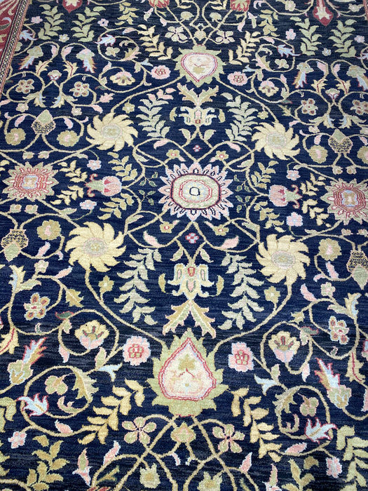 8'0X10'0 Indo Persian Hand Knotted 100% Wool Area rug