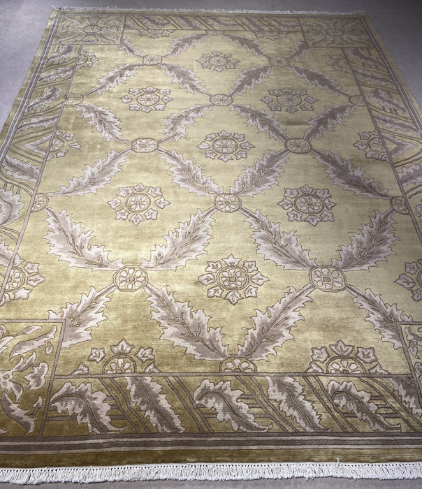 9'0X12'0 Indo-Persian Hand Knotted 100% Wool Area rug