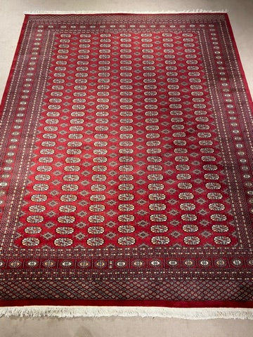 9'0X12'0 Persian Bukhara Hand Knotted 100% Wool Area rug