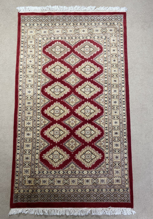 "Persian Bukhara Hand Knotted ""3x5.4"""