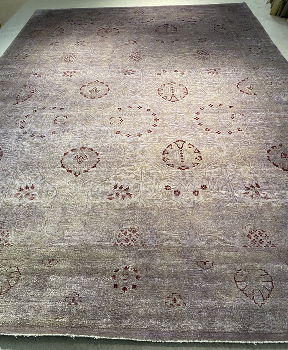 10'0X14'0 Chobi Hand Knotted 100% Wool Area rug (Antique)