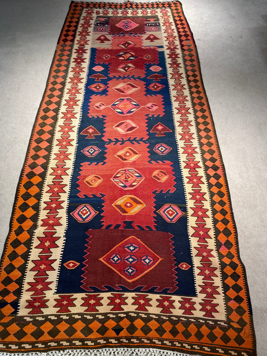 4.4X10.11 Kilim Hand Knotted 100% Wool Area rug