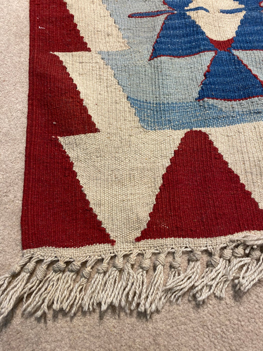3.10X6.1 Kilim Hand Knotted 100% Wool Area rug (As-Is)