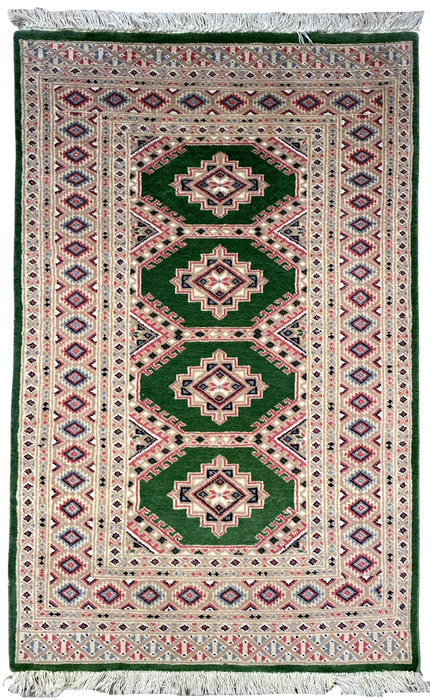 "Persian Bukhara Hand Knotted ""3.1x5.0"""