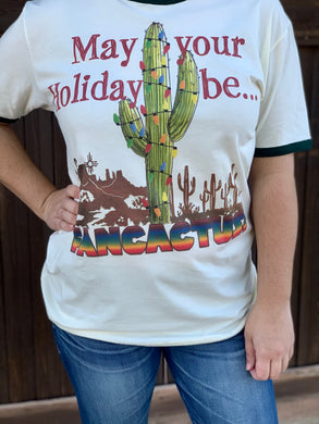 Fancactus Holiday Graphic Tee