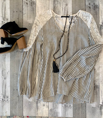Maggie Striped Blouse