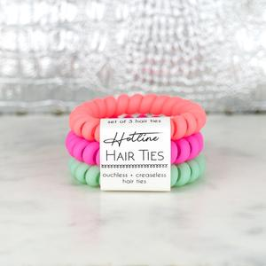 Hotline Hair Ties - Tropical Matte Set