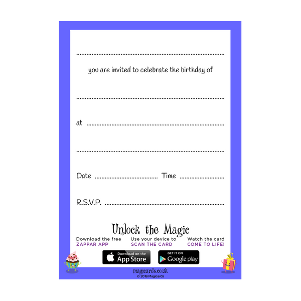 Birthday Invitations Magicards