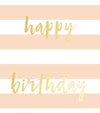 Happy Birthday Peach Wrap Tag