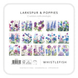 Larkspur & Poppies Notelets