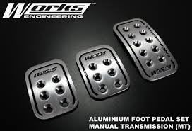 WORKS ENGINEERING ALUMINIUM FOOT PEDAL SET-MANUAL - MYOTO MALL