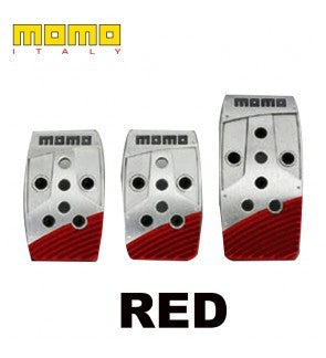 Momo Stealth Blue/Red Manual Pedal Kit-Italy - MYOTO MALL