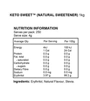 Keto Sweet™ - 1kg (Natural Plant Based Sweetener)