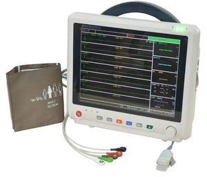"PM5000CS 12"" Multi-parameter Monitor with ECG RESP SpO2 NIBP TEMP PR ETCO2 - Utech Medical Device Pty Ltd"