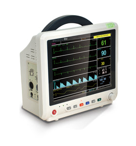"PM5000VCS 12"" Veterinary Multi-parameter Monitor with ECG RESP SpO2 NIBP TEMP PR ETCO2 (Sidestream)"
