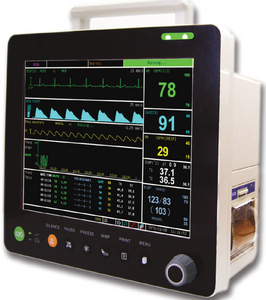 "PM6000VCS Veterinary 12"" Multi-parameters Monitor with ECG RESP SpO2 NIBP TEMP PR ETCO2(Sidestream) - Utech Medical Device Pty Ltd"