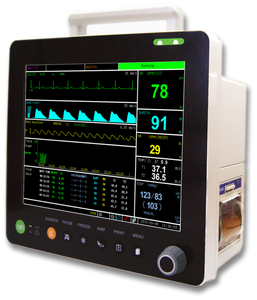 "PM6000CM 12"" Multi-parameters Monitor with ECG RESP SpO2 NIBP TEMP PR ETCO2 - Utech Medical Device Pty Ltd"
