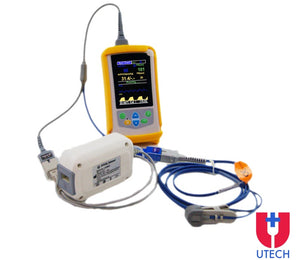 UT100VCS Handheld Veterinary Capnography Monitor with SPO2 sidestream ETCO2 PR RESP - Utech Medical Device Pty Ltd
