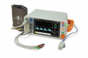 "VS2000CM 7"" Vital Signs Monitor with ECG RESP SpO2 NIBP TEMP PR ETCO2(Mainstream) - Utech Medical Device Pty Ltd"