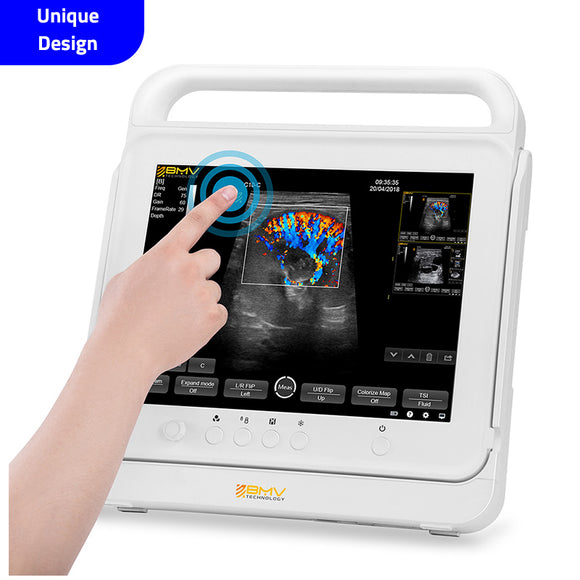 PT50C Compact Portable Touchscreen Veterinary Color Doppler Ultrasound Machine