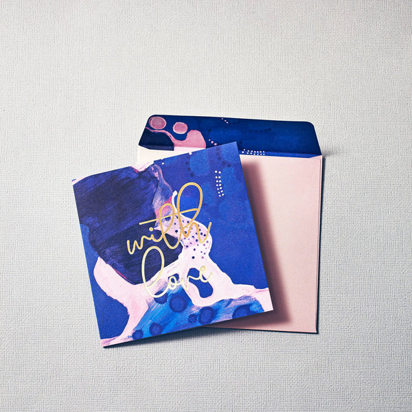 ART CIRCUS 'WITH LOVE' GREETING CARD + ENVELOPE SET - CHROMA STUDIO MELBOURNE