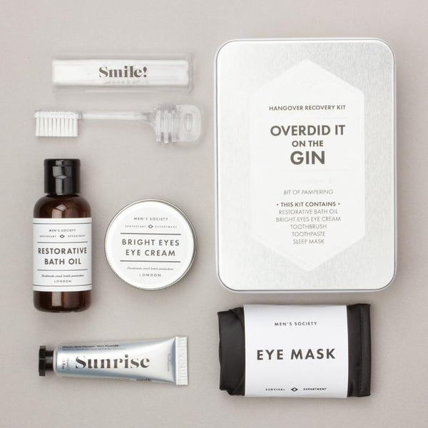 HANGOVER RECOVERY KIT - OVERDID IT ON THE GIN BY MEN'S SOCIETY | CHROMA STUDIO