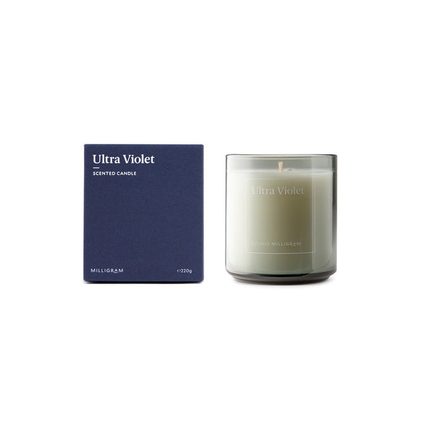 STUDIO MILLIGRAM 'ULTRAVIOLET' SENSORY SCENTED CANDLE - CHROMA STUDIO