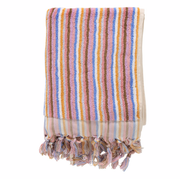 Skinny Stripe Bath Towel By Kip&Co | Chroma Studio