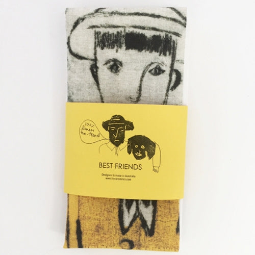 Best Friends Tea Towel by Fiona Roderick | Chroma Studio
