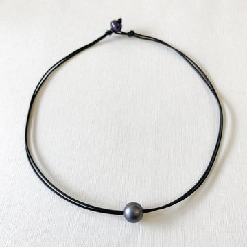 Alma Necklace, Black Pearl - Sayulita Sol Jewelry