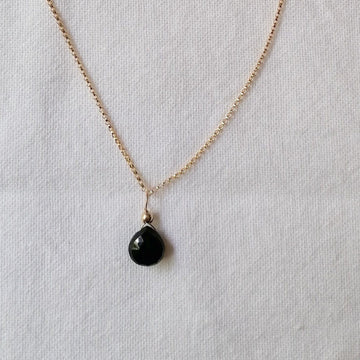 Black Spinel Isla Pendant in Gold Necklaces Sayulita Sol 18 inch Gold Plate Chain +$25