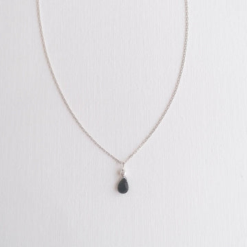 Black Spinel Isla Pendant in Silver Necklaces Sayulita Sol