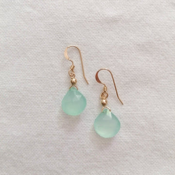Chalcedony Isla Earrings in Gold Earrings Sayulita Sol Jewelry