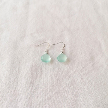 Chalcedony Isla Earrings in Silver Earrings Sayulita Sol Jewelry