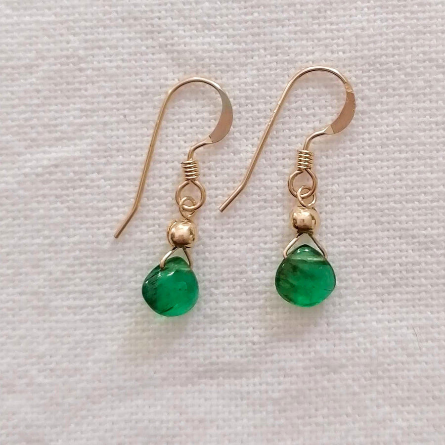 Emerald Isla Earrings in Gold Earrings Sayulita Sol Jewelry
