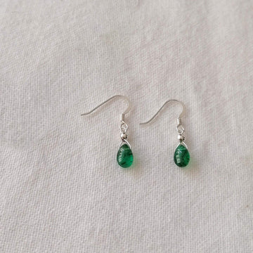 Emerald Isla Earrings in Silver Earrings Sayulita Sol Jewelry