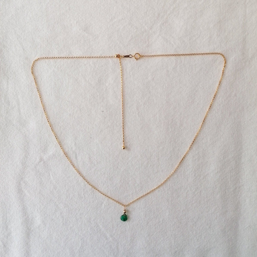Emerald Isla Pendant in Gold Necklaces Sayulita Sol 14kt Gold Fill Adjustable Chain +$85