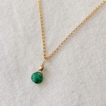 Emerald Isla Pendant in Gold Necklaces Sayulita Sol 16 inch Gold Plate Chain +$23