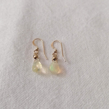 Ethiopian Opal Isla Earrings in Gold Earrings Sayulita Sol Jewelry